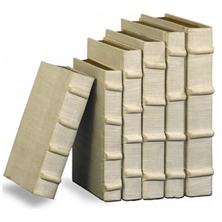 Ecru Linen Books, Set/6