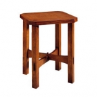 Wood Top Tabouret Table
