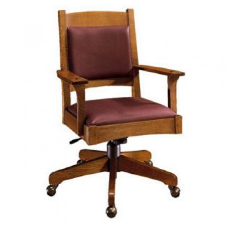 Leather Back Swivel Tilt Desk Chair