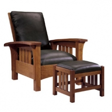 Stickley Mission Bow Arm Morris Chair