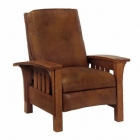 Straight Back Bow Arm Morris Recliner
