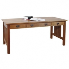Library Table with Keyboard Pullout