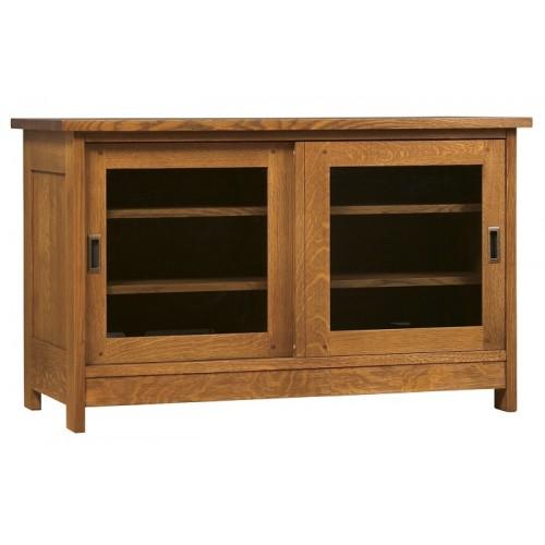 sliding door tv console. Black Bedroom Furniture Sets. Home Design Ideas