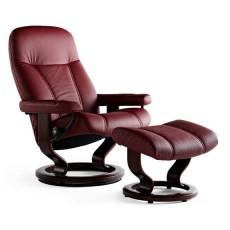 Consul Chair & Ottoman (L)
