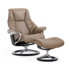 Stressless Live Recliner and Ottoman Classic (L) Paloma