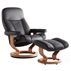 Consul Chair & Ottoman (M)