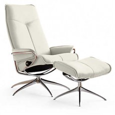 City High-Back Chair & Ottoman Standard
