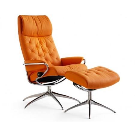 Metro High-Back Chair Standard Base & Ottoman