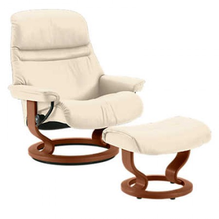Sunrise Classic Chair & Ottoman (L)