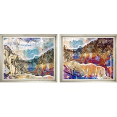 Expressionist Canyon Pair