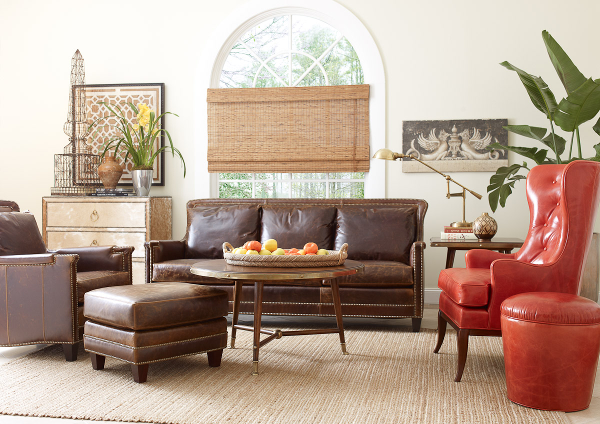 Our favorite living room leather furniture