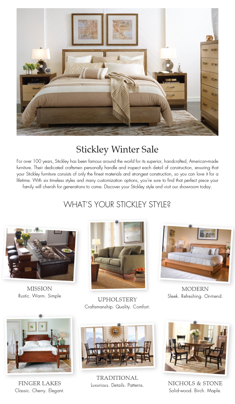 STICKLEY SALE 2016