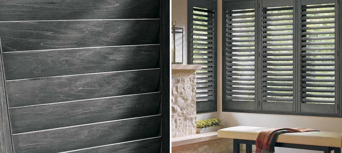 Plantation shutters at sheffield furniture interiors - Hunter douglas interior shutters ...