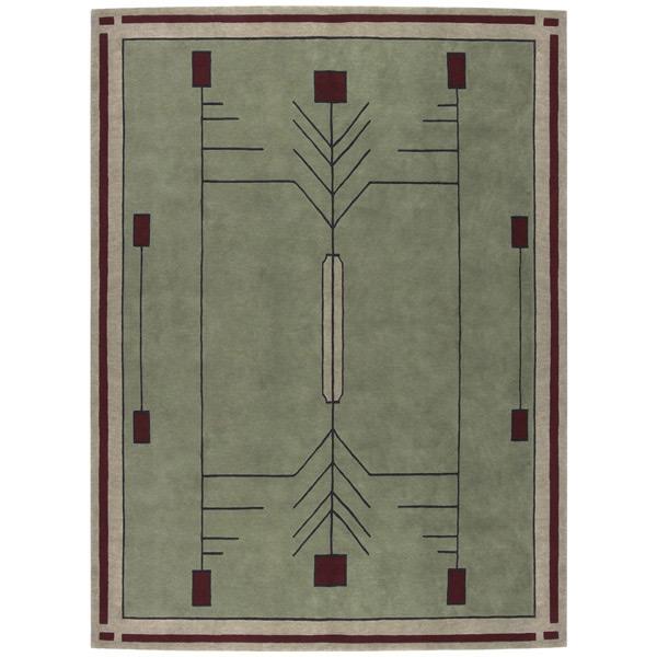 Prairie stickley rug - Frank lloyd wright rugs ...